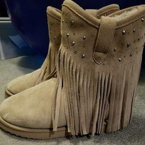 Koolaburra Short studded fringe boots